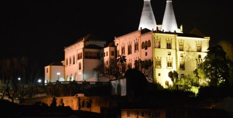 National Palace, Sintra, at night
