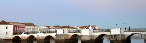 Roman bridge in Tavira, Algarve, Portugal. Photography by Julie Dawn Fox