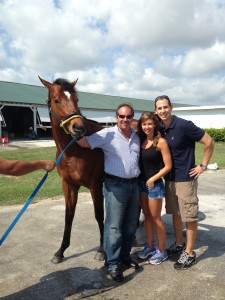 Arccos Comes Home from Ocala with Trainer Jose Garoffalo