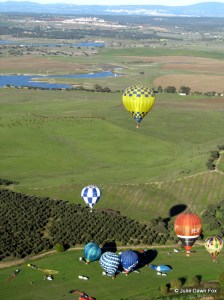 hot air balloons on the ground and in the air, Alentejo
