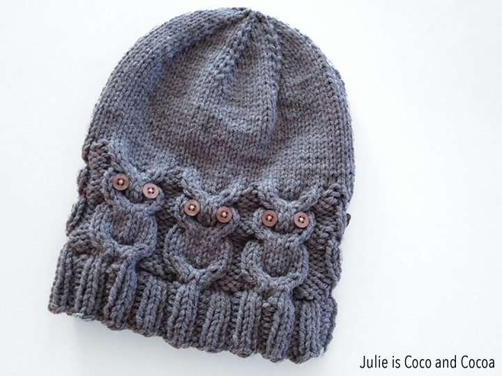 Free Knitting Patterns For Baby Owl Hats : Owl Hat Knit Pattern - Julie is Coco and Cocoa
