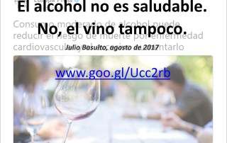alcohol no es saludable