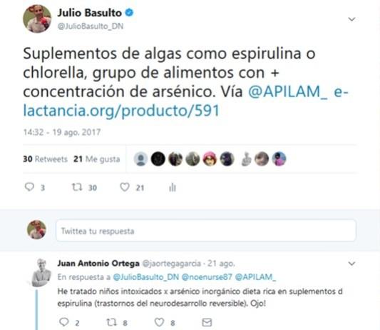 espirulina chlorella arsénico
