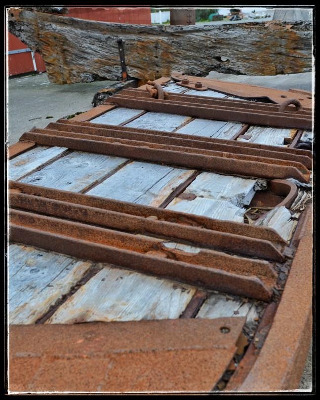 Old wooden trawl doors - Isafjördur