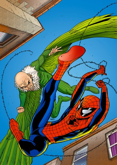 Spectacular Spiderman coloured by Junior Tomlin for Marvel