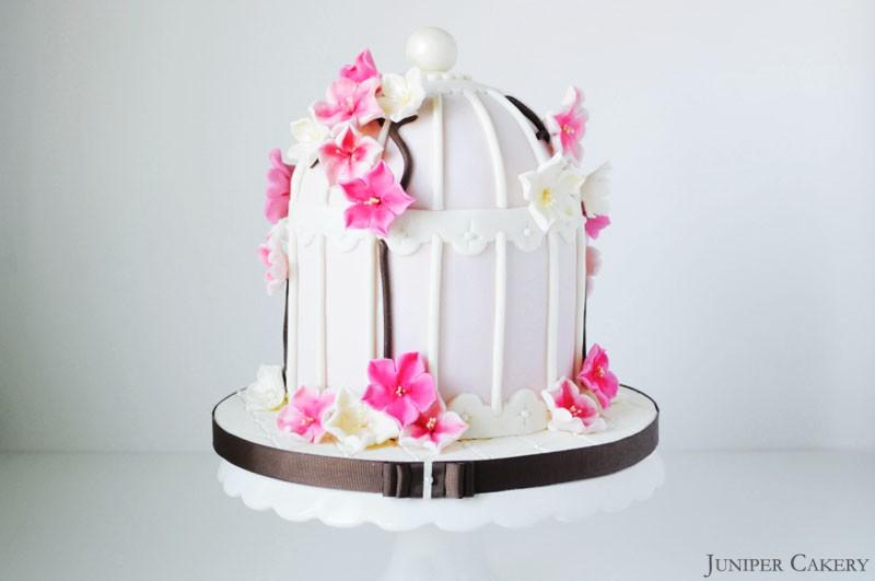 Cherry Blossom Birdcage Cake