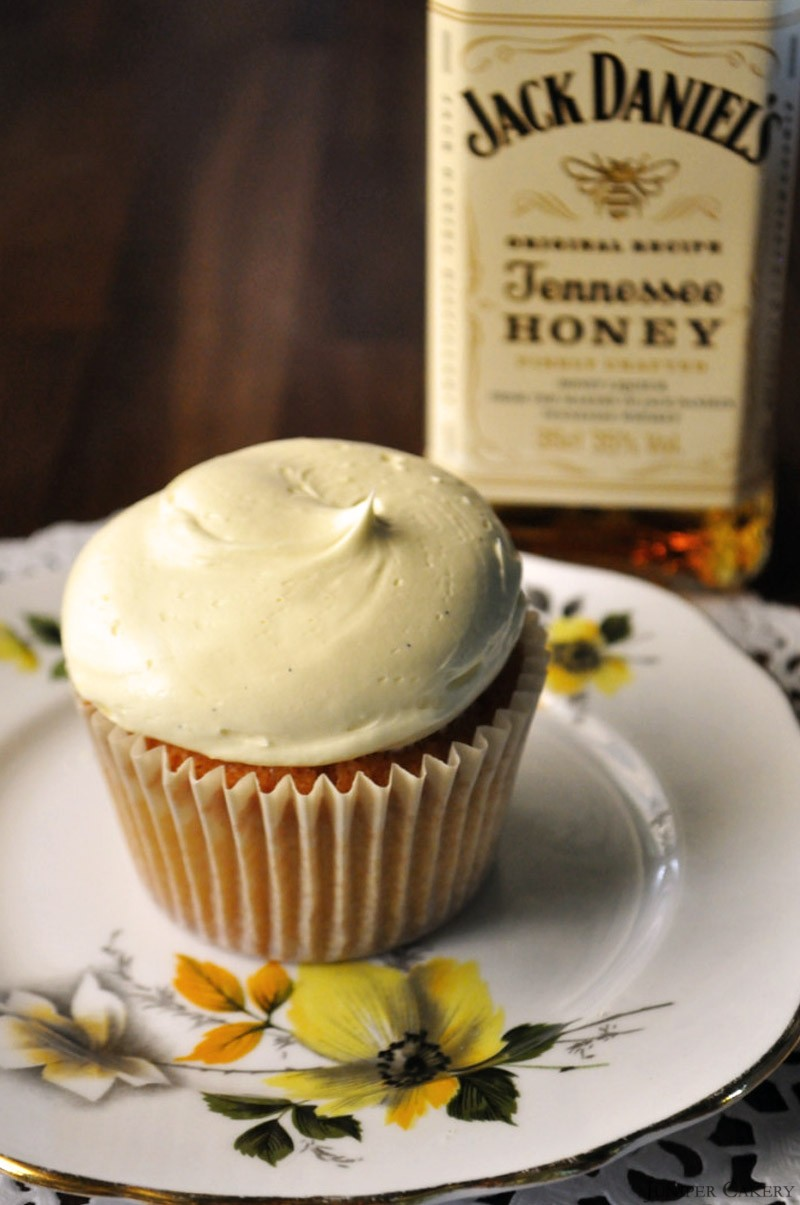 Honey Whiskey Cupcakes