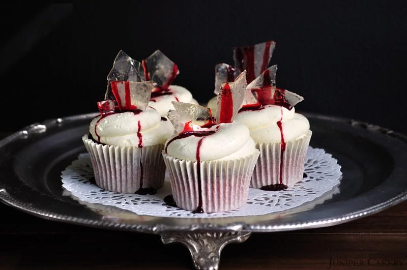 Red Bloody Velvet Cupcakes by Juniper Cakery