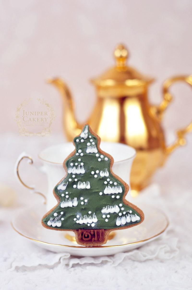 Fun Christmas Tree cookies by Juniper Cakery