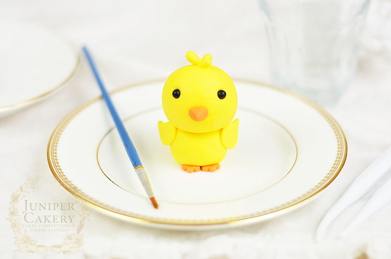 Modelling paste Easter chick tutorial by Juniper Cakery