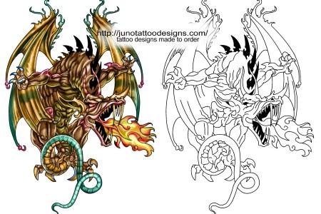 big dragon tattoo design free