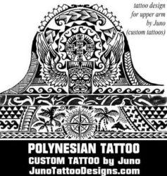 polynesian tattoo tiki compass by juno tattoo designs