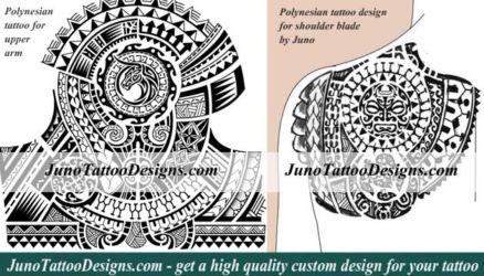 polynesian samoan tattoo arm shoulder blade by juno tattoo designs