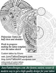 Polynesian tattoo template by juno tattoo designs