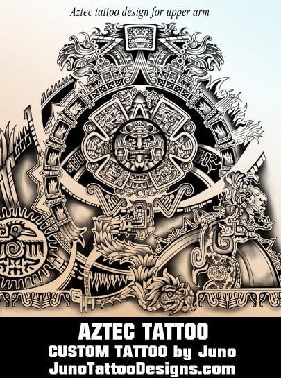 Aztec calendar tattoo, tribal tattoo, juno tattoo designs