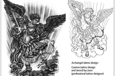 archangel tattoo and template