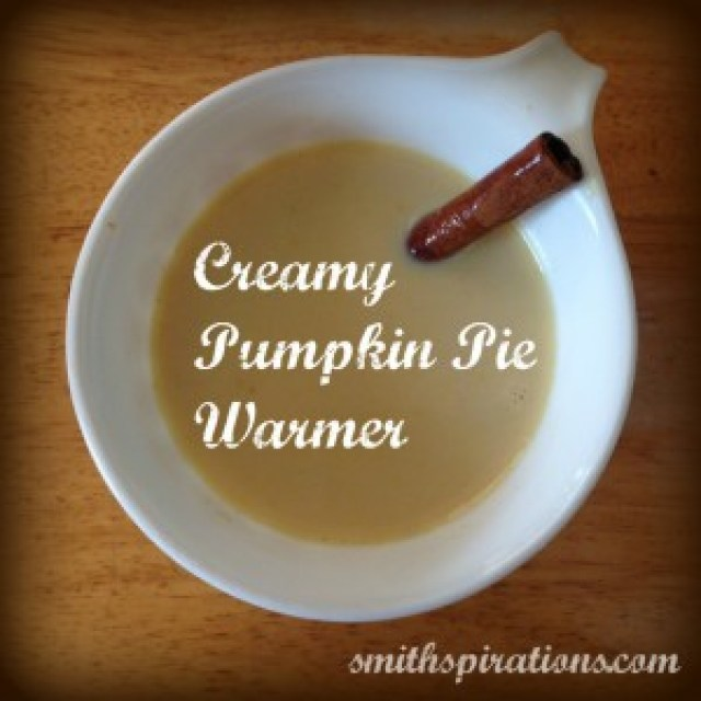 Creamy Pumpkin Pie Warmer... it's like pumpkin pie in a mug!