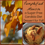 Pumpkified Mousse {a Sugar-free, Candida-Diet Dessert for Fall}