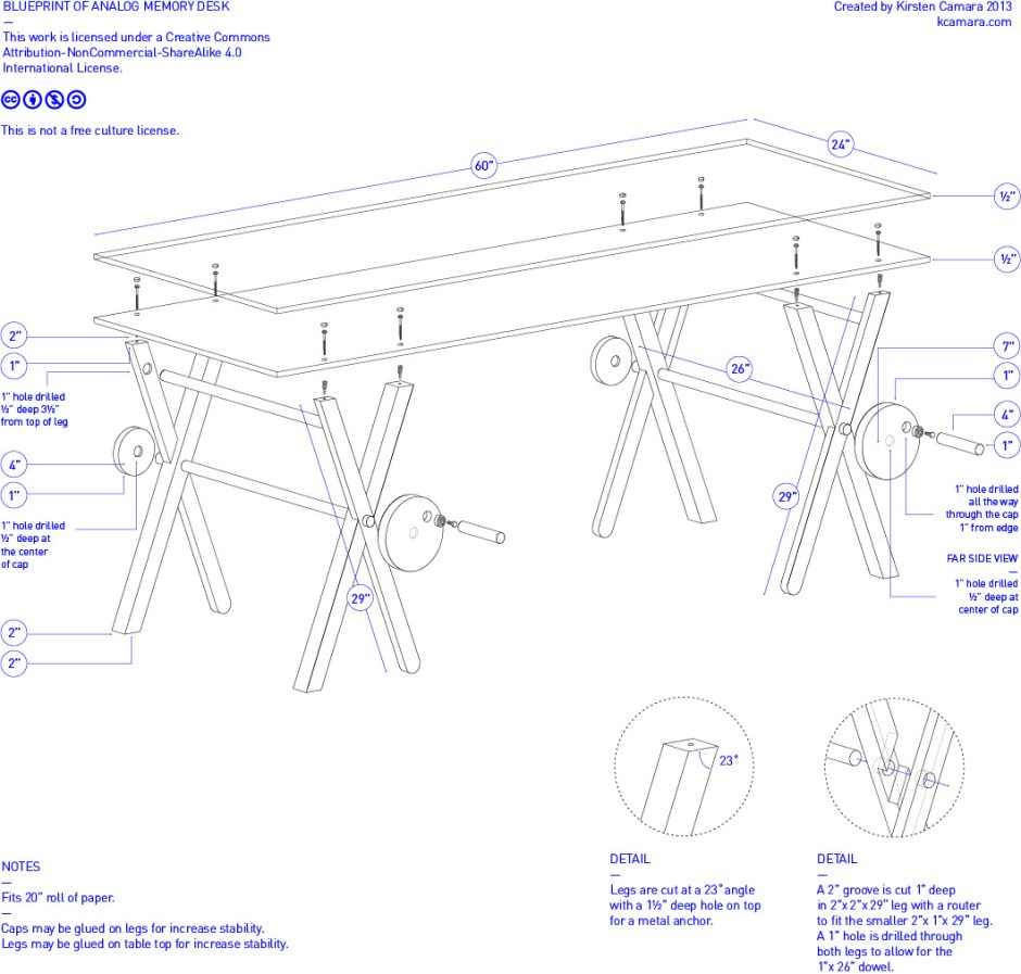 analog desk blueprints