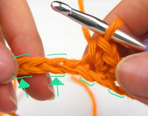 skip one chain and work 2 single crochet into the next chain (increase)
