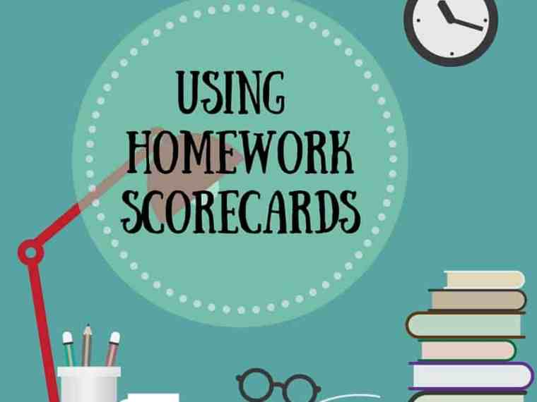 How to use homework scorecards.