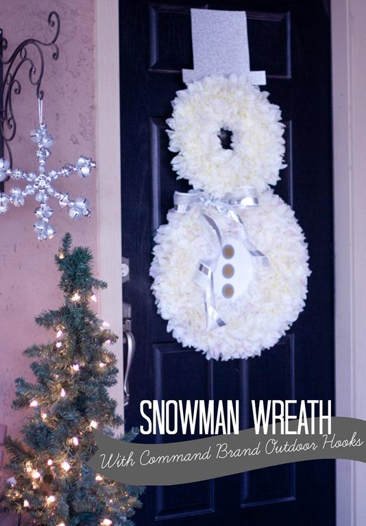Snowman Wreath Front Door Decor