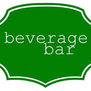 Block Party Beverage Bar Sign