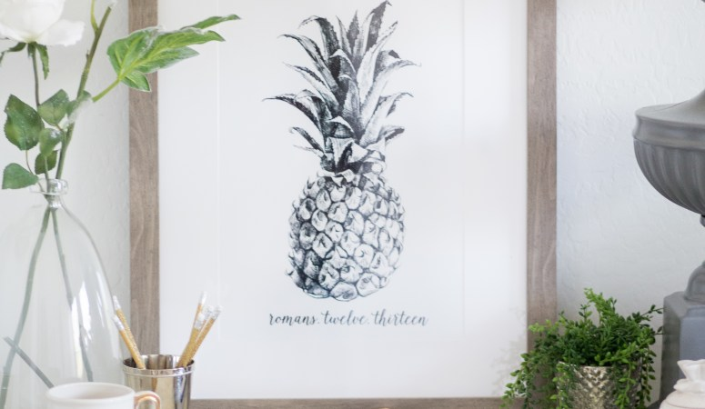 Pineapple Art Print for free