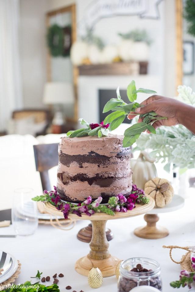 Chocolate Naked Cake - Autumn Wedding_-9