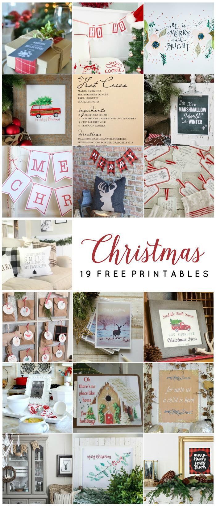 19 Free Christmas Printables