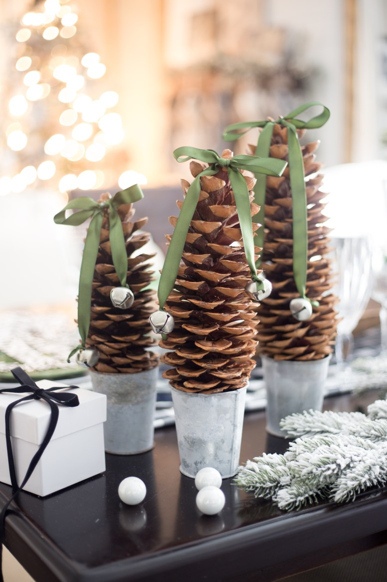 DIY Pinecone Trees Christmas Decor-2