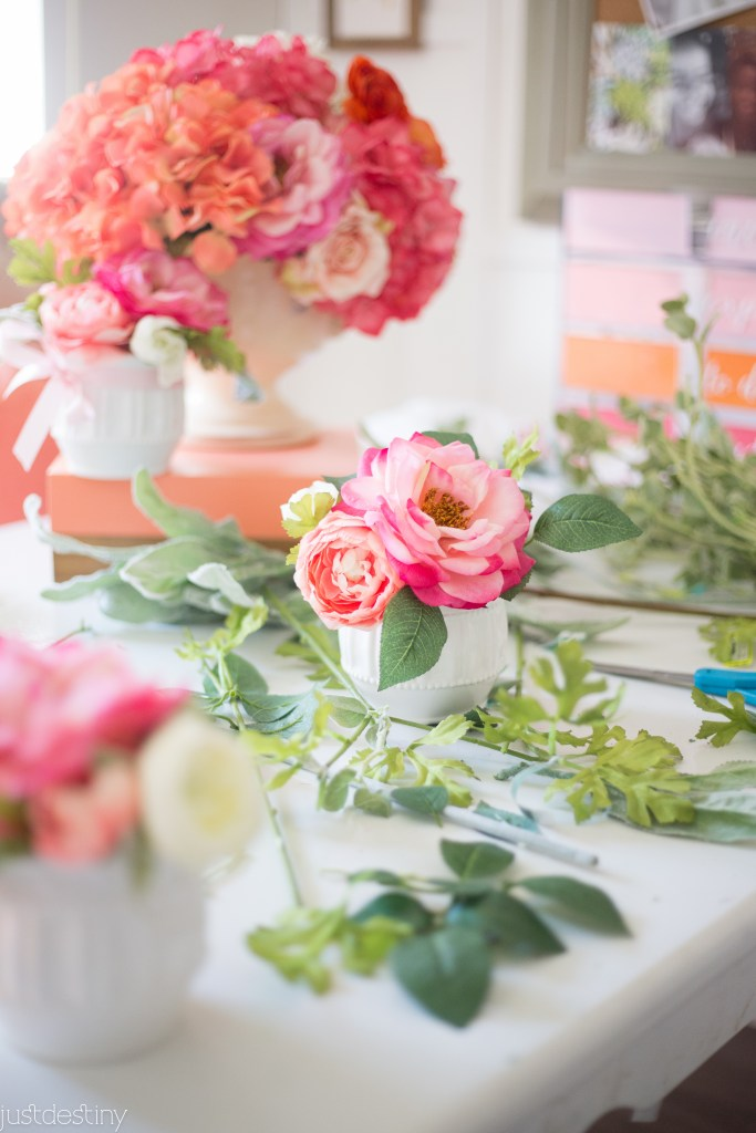 Flower Arrangments with Faux Flowers-21