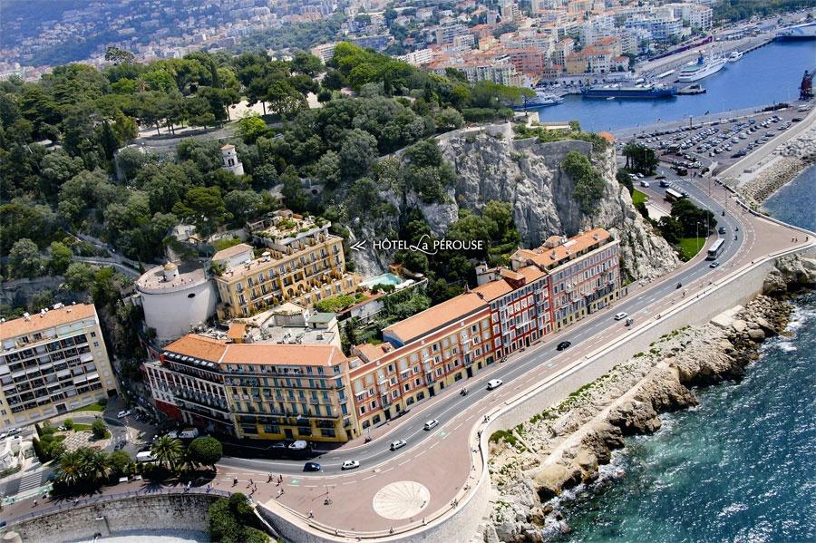 Hôtel La Pérouse – French Riviera's hidden gem aerial view