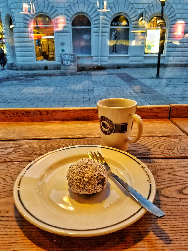 The ever popular Chokladboll is a common fika staple