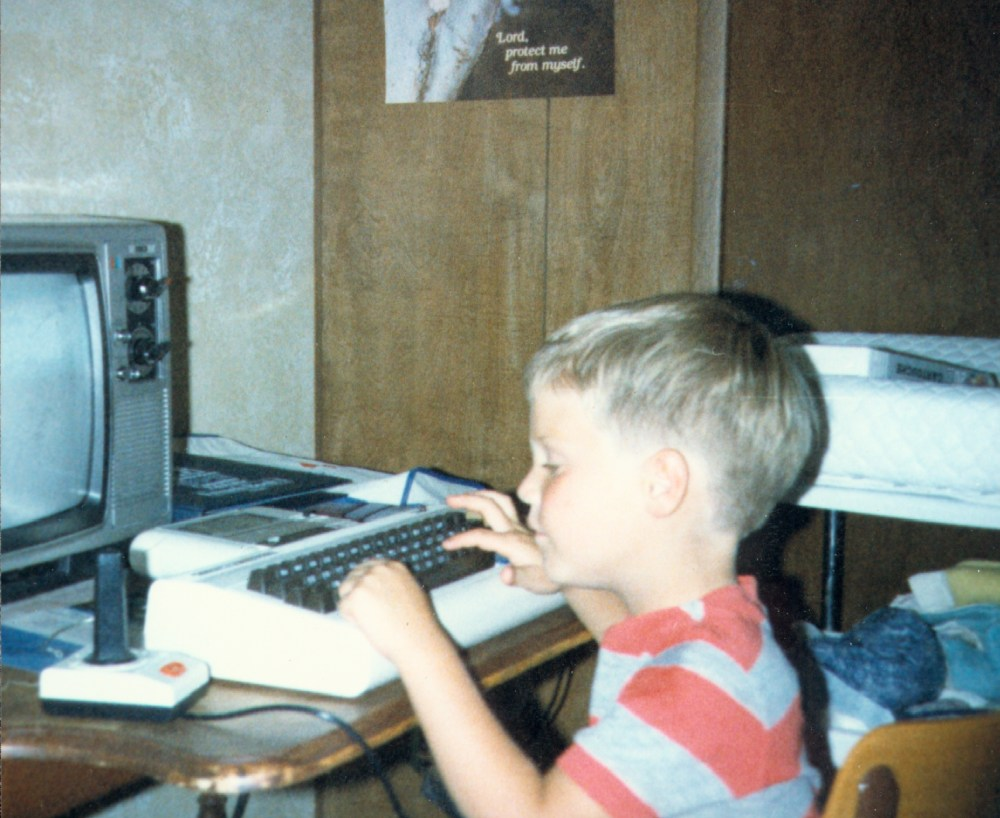 Justin Jackson on his first computer: a Commodore Vic-20 programming in BASIC