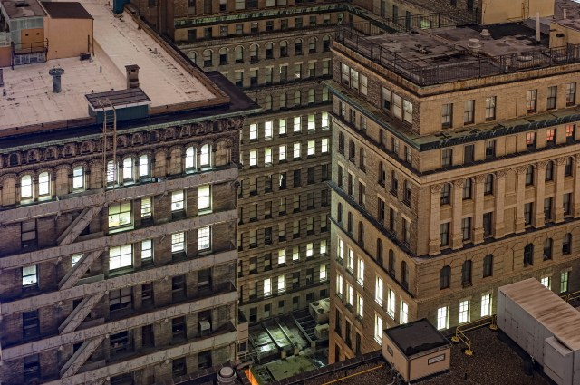 Philadelphia Downtown Buildings at Night-3