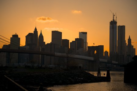 New York City Sunset Silhouette