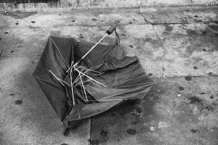Abanoned and Destroyed Umbrella