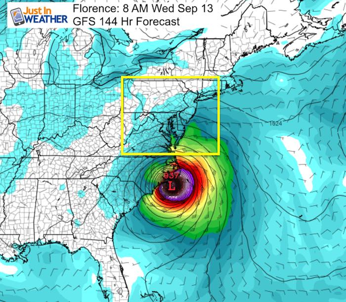 September Florence Hurricane Landfall Forecast Hour 144 Fit Ssl Tracking  Scary