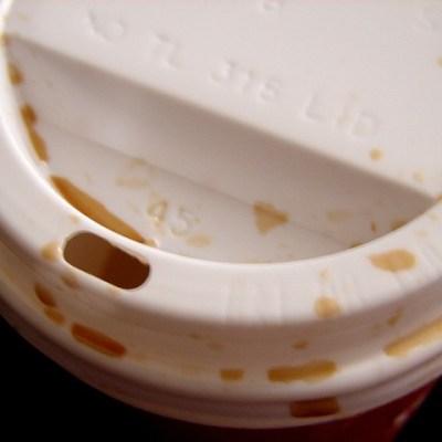 useless coffee cup lid