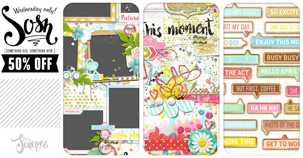 New! April Stacked Mess + Frames Plus Call-outs