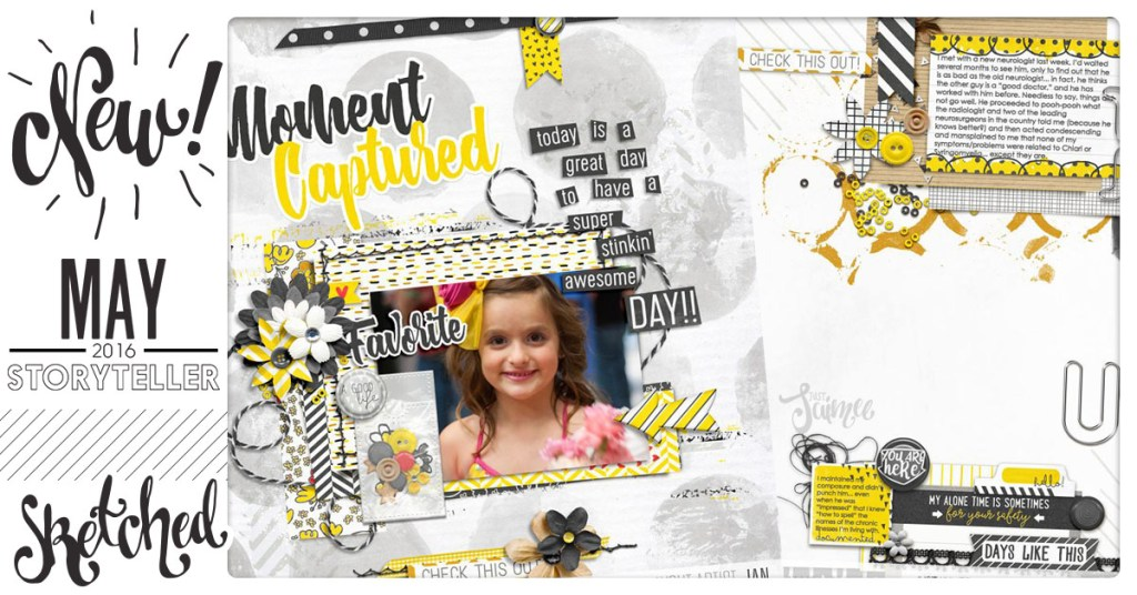 CT Inspired Scrapbooking Templates Sketched with Kimberlee