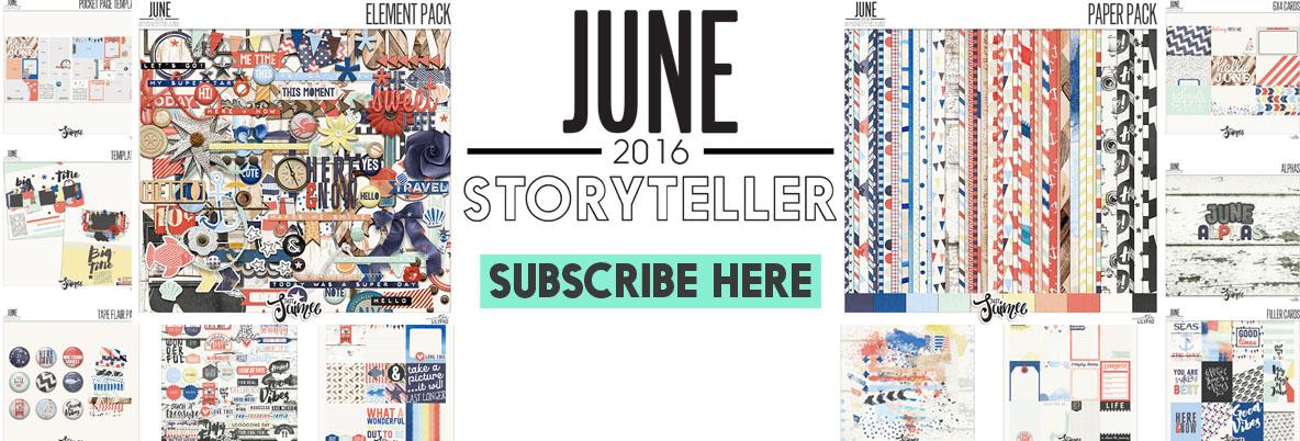 May storyteller digital scrapbooking subscription