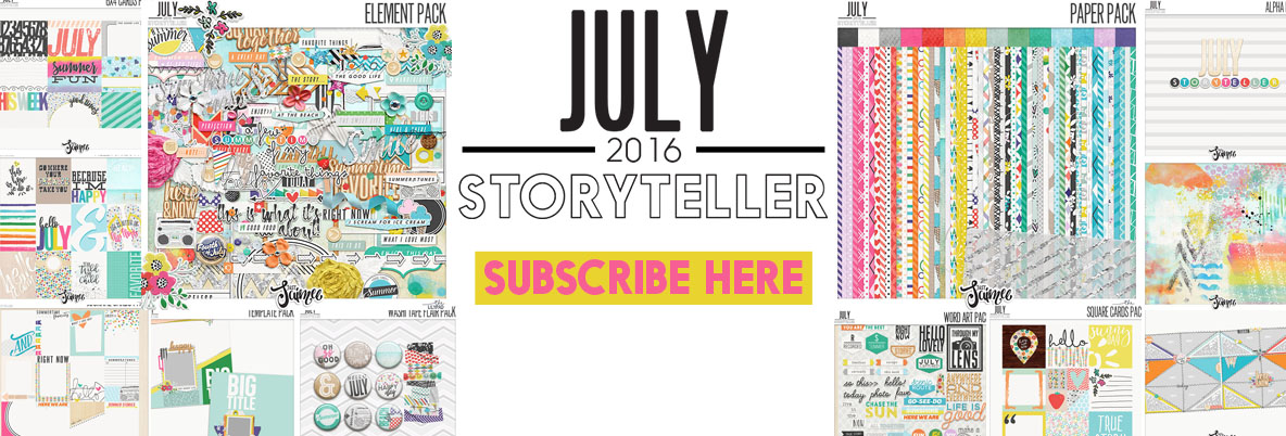 July storyteller digital scrapbooking subscription