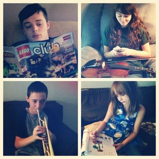 A Snapshot of a Homeschooling Day at Our House….