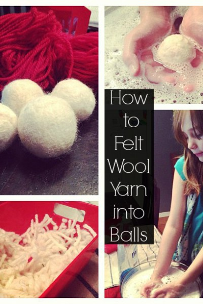 How to Felt Wool Yarn Scraps into Balls (for Juggling! or…whatever use)