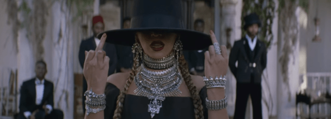 """Beyonce raises two middle fingers to the society in """"Formation"""" music video"""