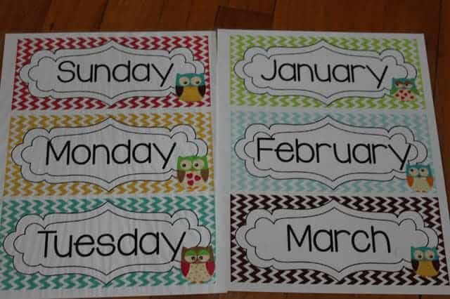 Monthly Headers Clipart