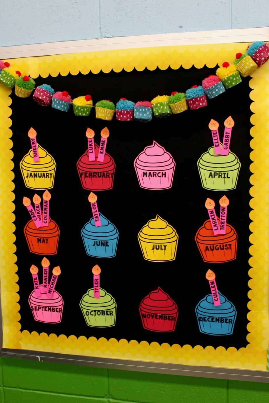 Classroom Display Design ~ The best birthday board just reed