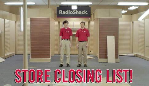 Radio Shack Store Closing List